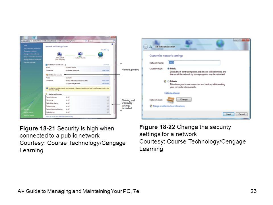 Figure 18-21 Security is high when connected to a public network
