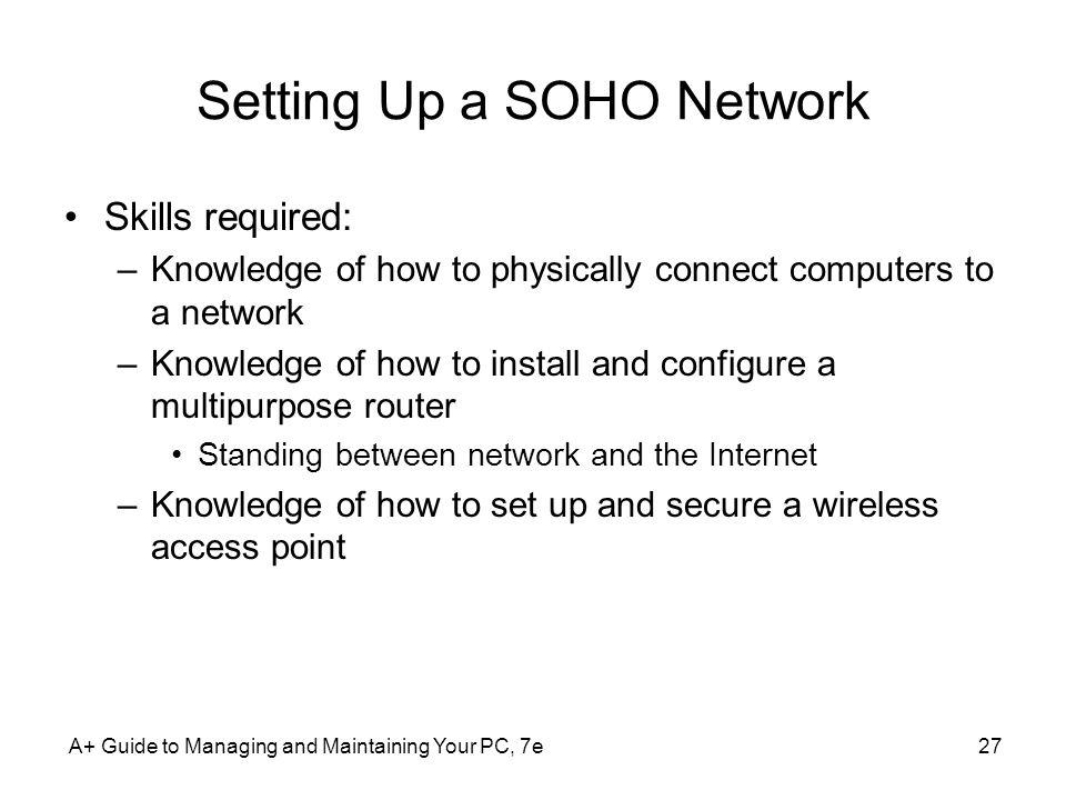 Setting Up a SOHO Network