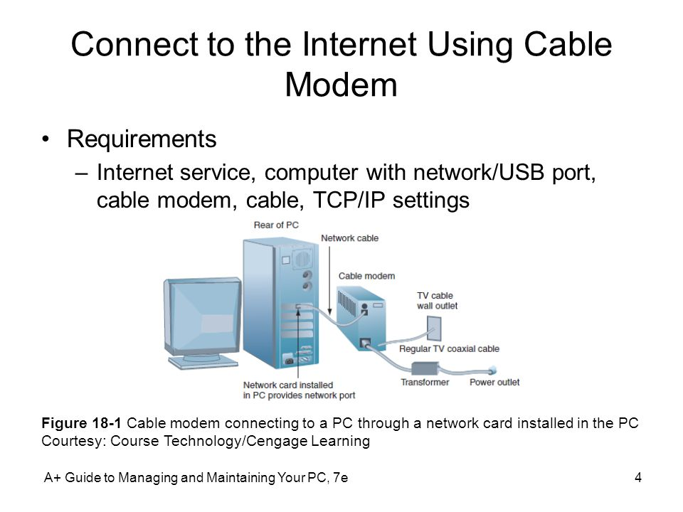 Connect to the Internet Using Cable Modem