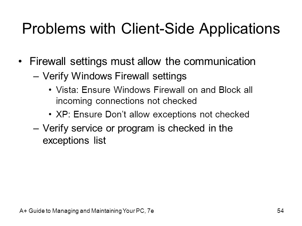 Problems with Client-Side Applications