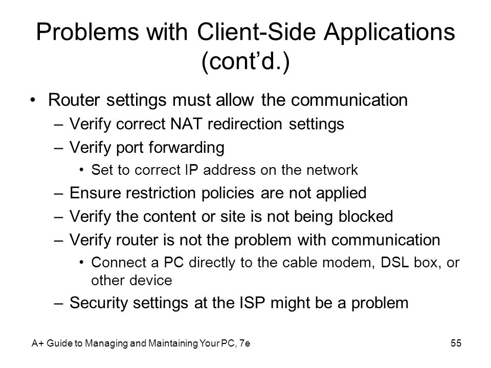 Problems with Client-Side Applications (cont'd.)