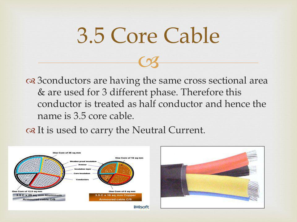 3.5 Core Cable