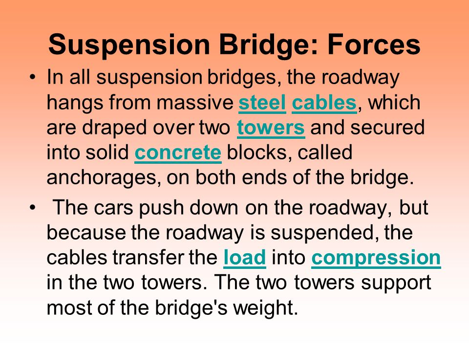 Suspension Bridge: Forces