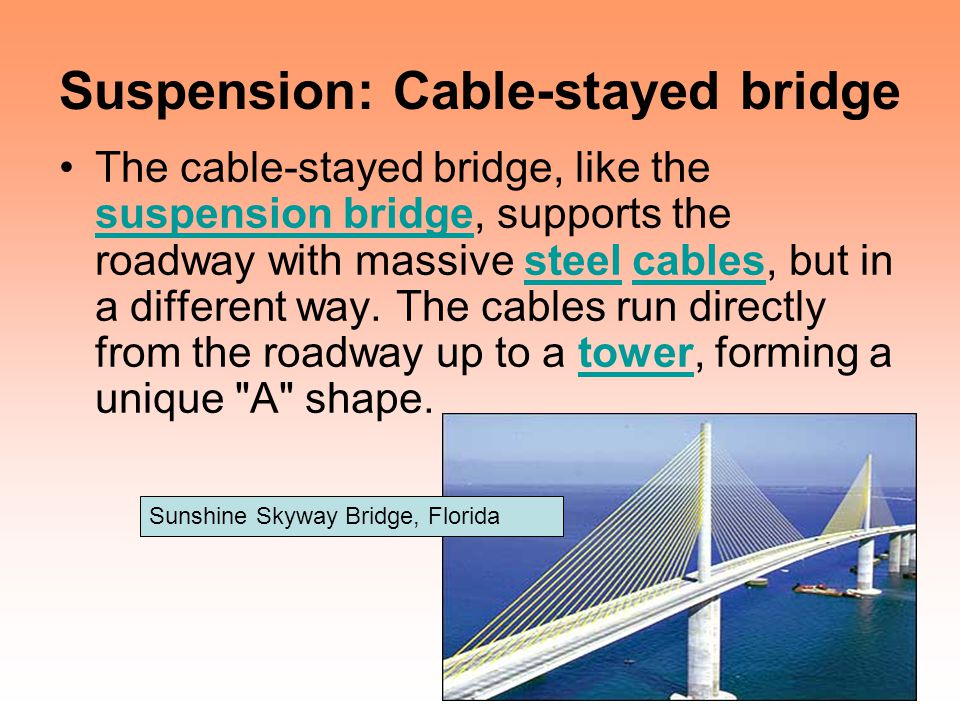 Suspension: Cable-stayed bridge