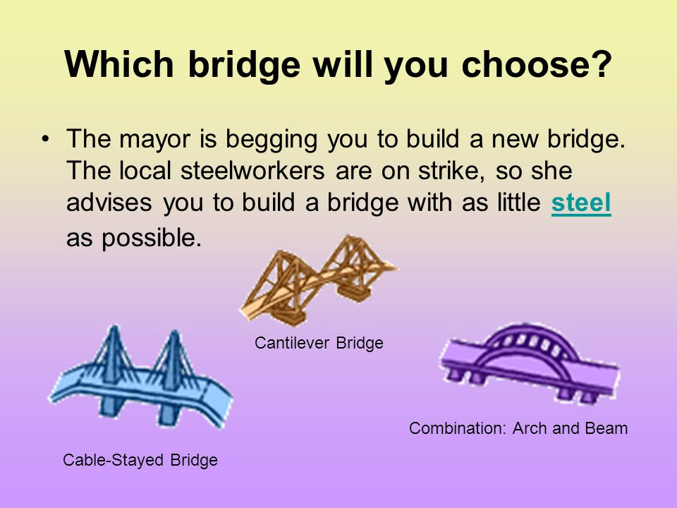 Which bridge will you choose