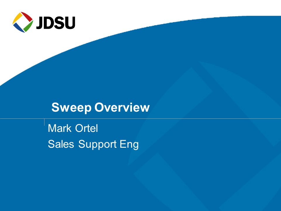 Mark Ortel Sales Support Eng