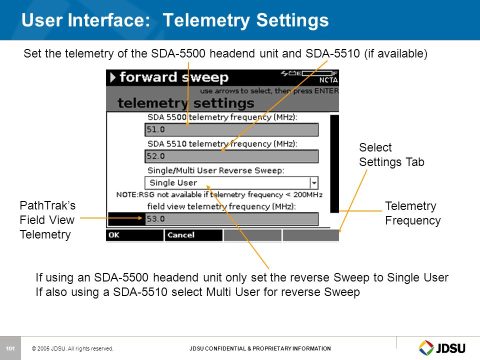 User Interface: Telemetry Settings