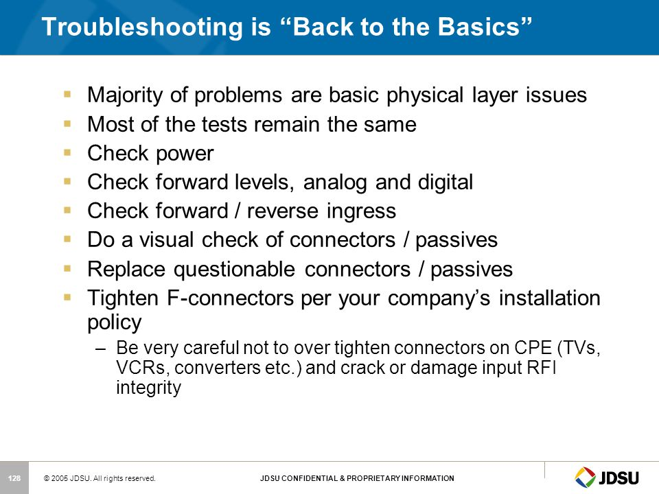 Troubleshooting is Back to the Basics