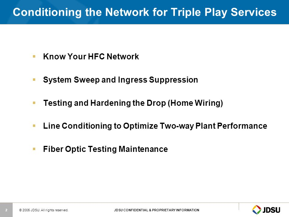 Conditioning the Network for Triple Play Services
