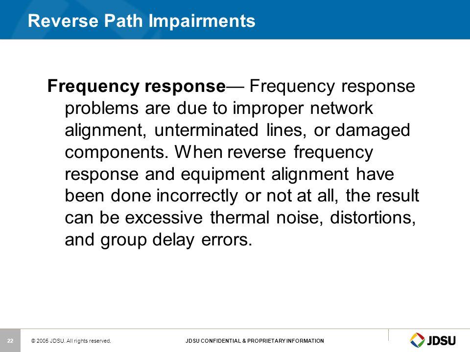 Reverse Path Impairments