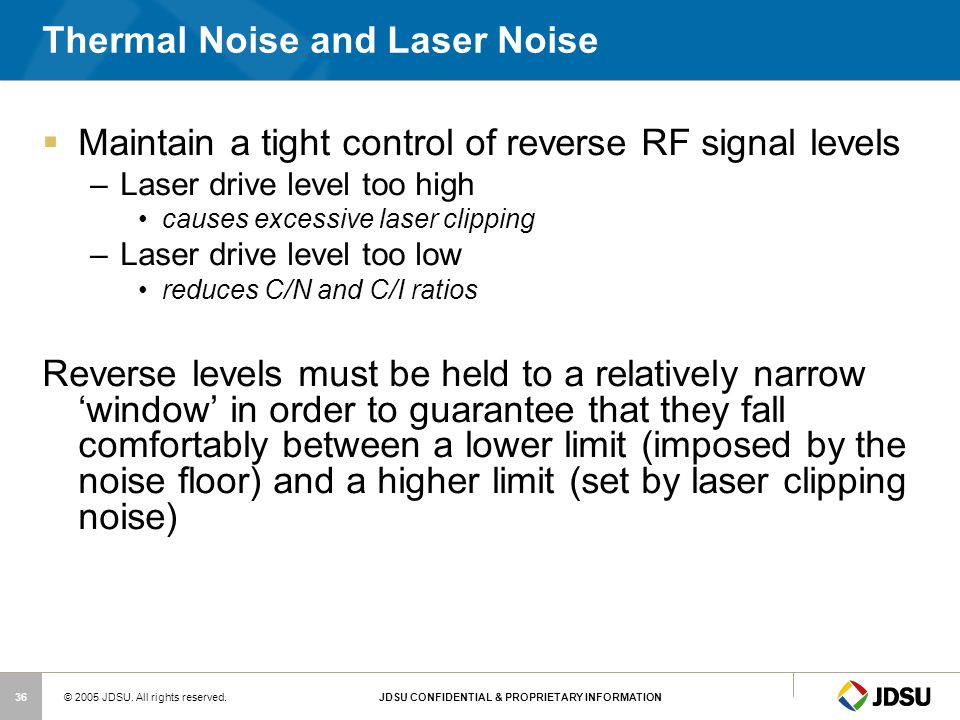 Thermal Noise and Laser Noise