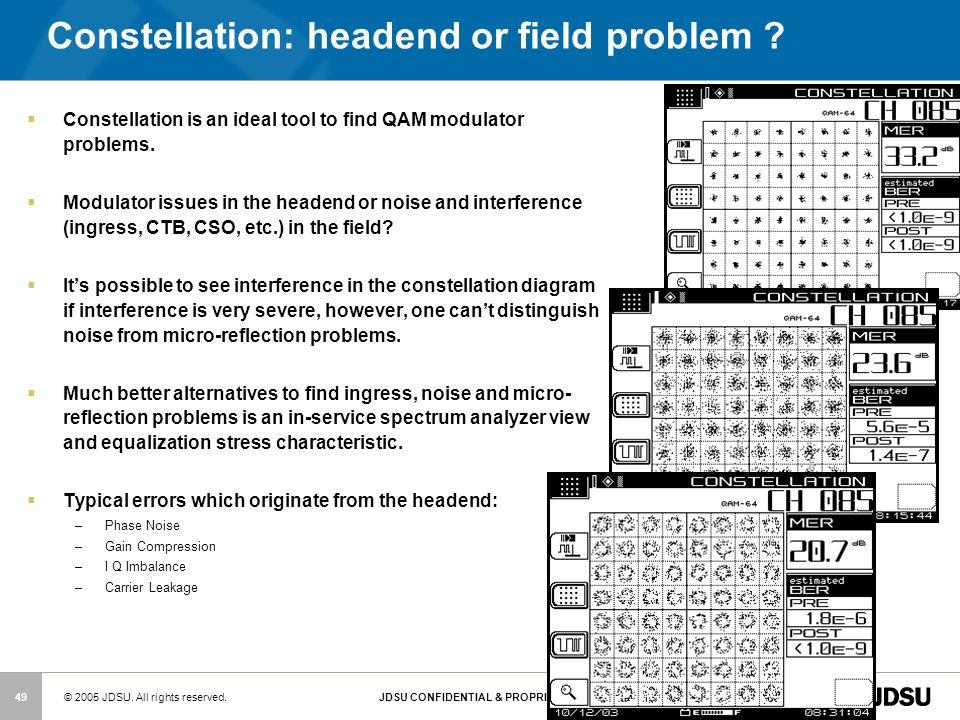 Constellation: headend or field problem