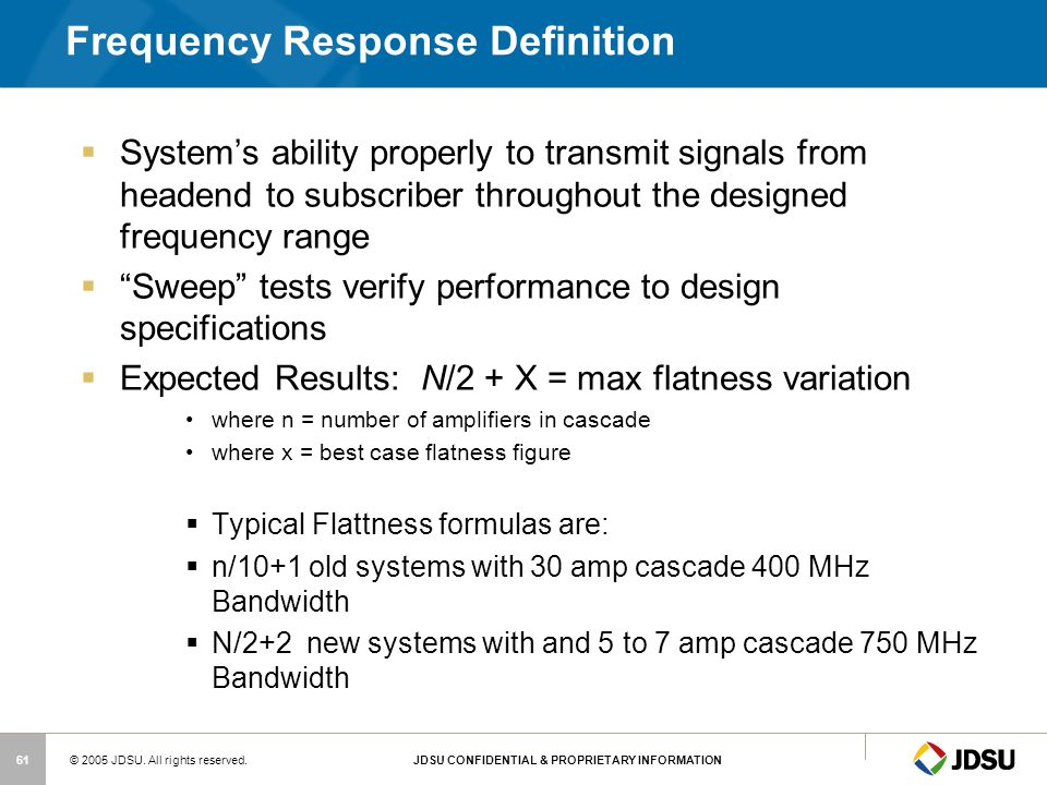 Frequency Response Definition
