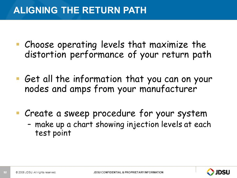 ALIGNING THE RETURN PATH