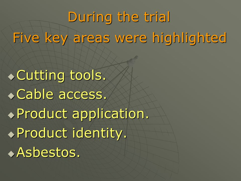 Five key areas were highlighted