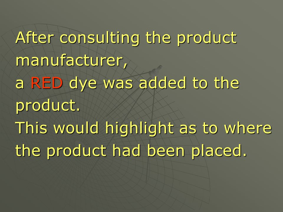 After consulting the product