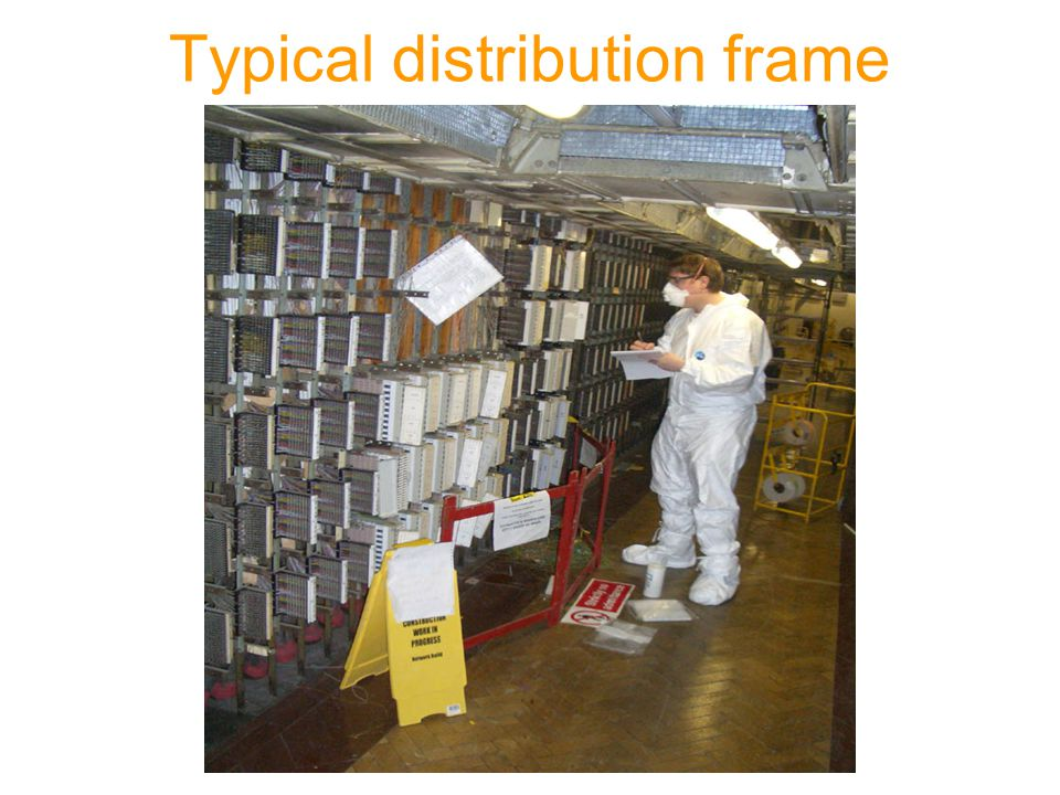Typical distribution frame