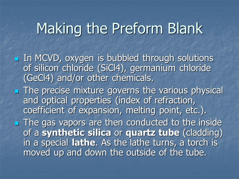 Making the Preform Blank