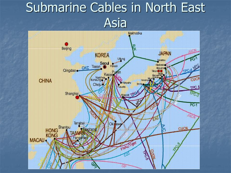 Submarine Cables in North East Asia