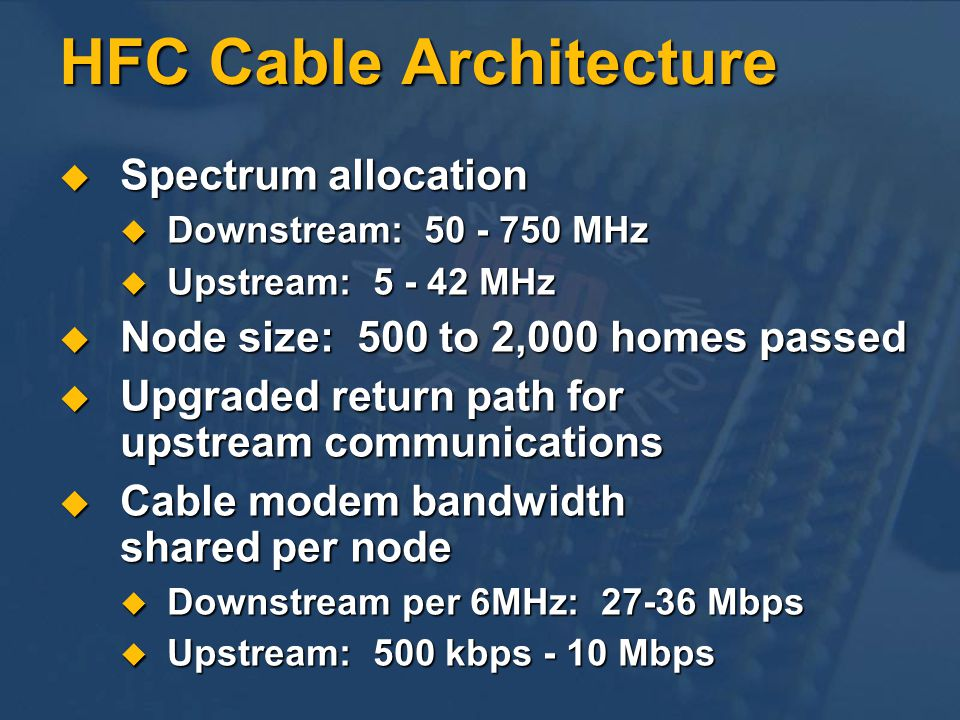 HFC Cable Architecture