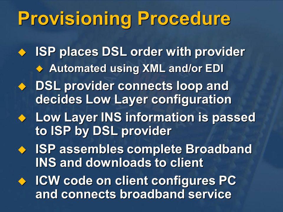 Provisioning Procedure