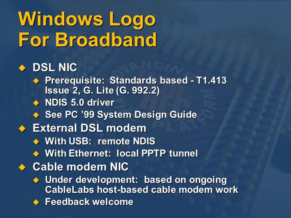 Windows Logo For Broadband