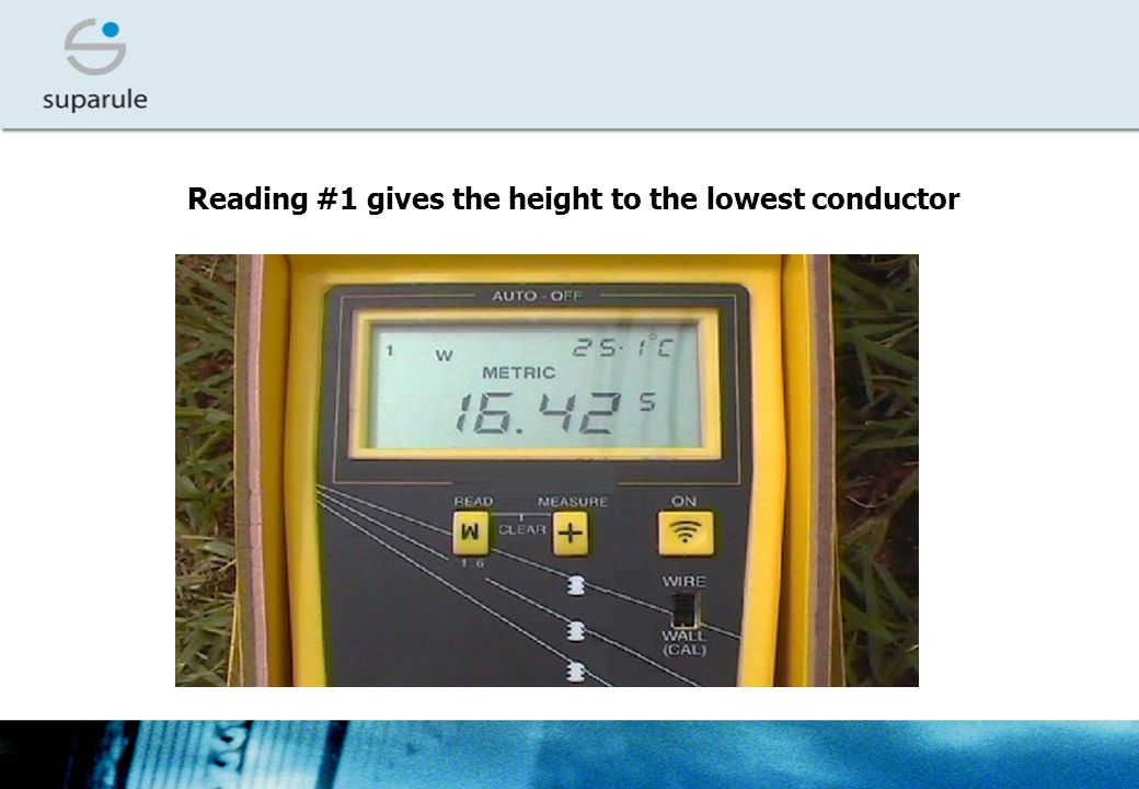 Reading #1 gives the height to the lowest conductor
