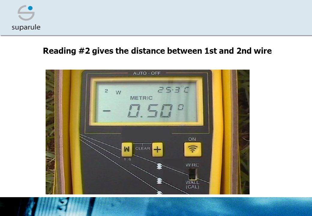 Reading #2 gives the distance between 1st and 2nd wire