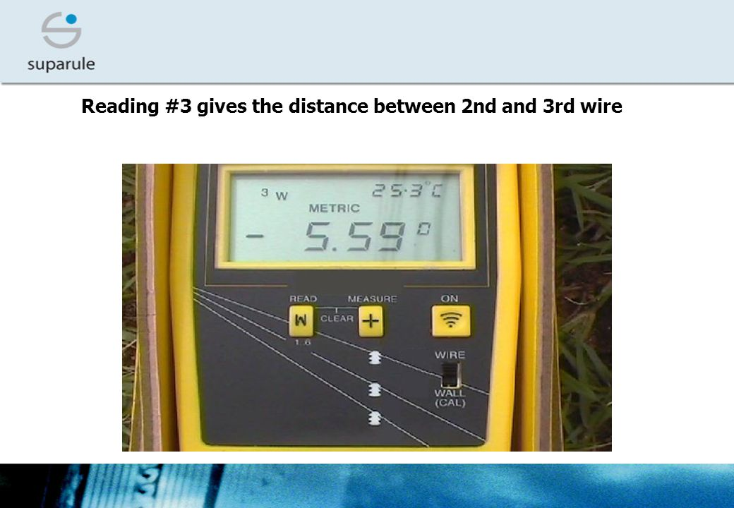 Reading #3 gives the distance between 2nd and 3rd wire