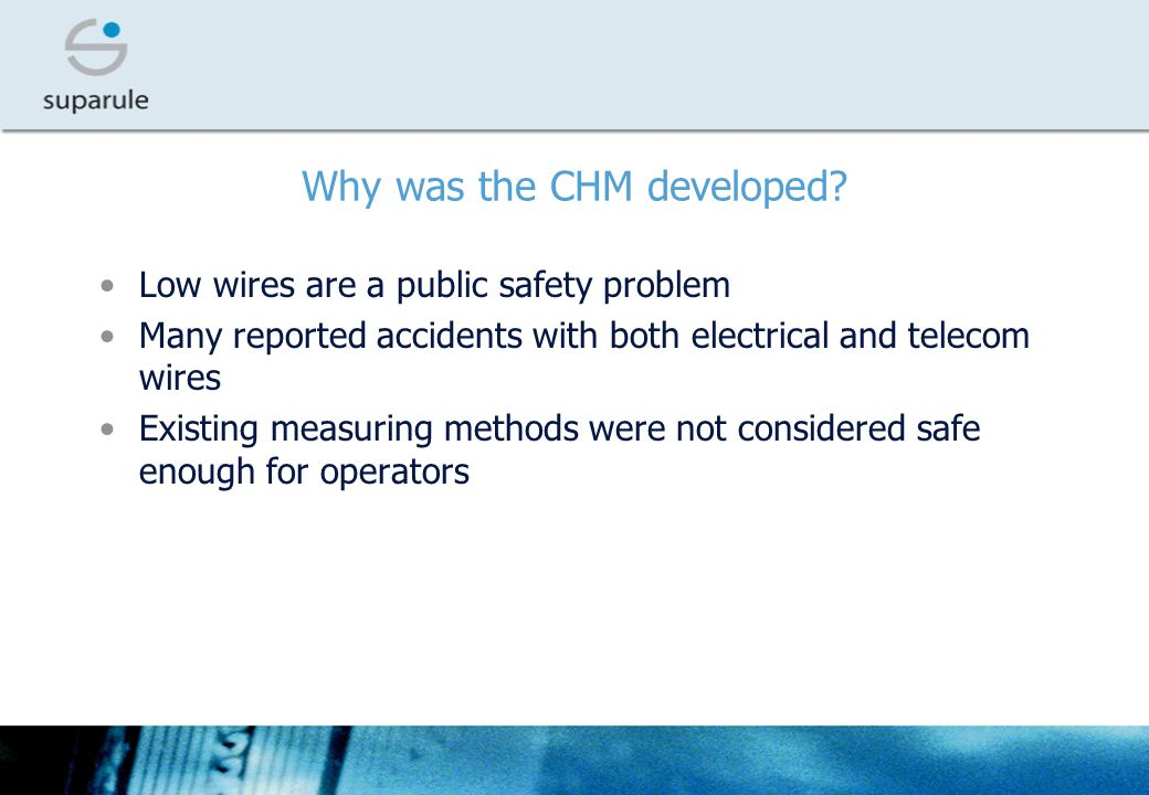Why was the CHM developed