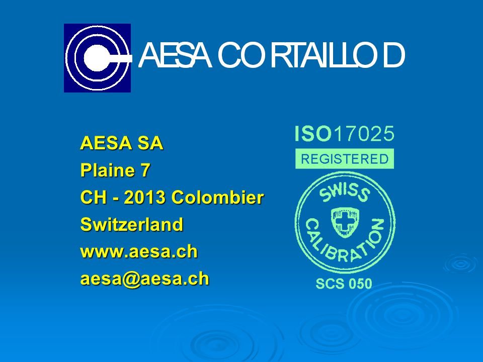 AESA SA Plaine 7 CH Colombier Switzerland