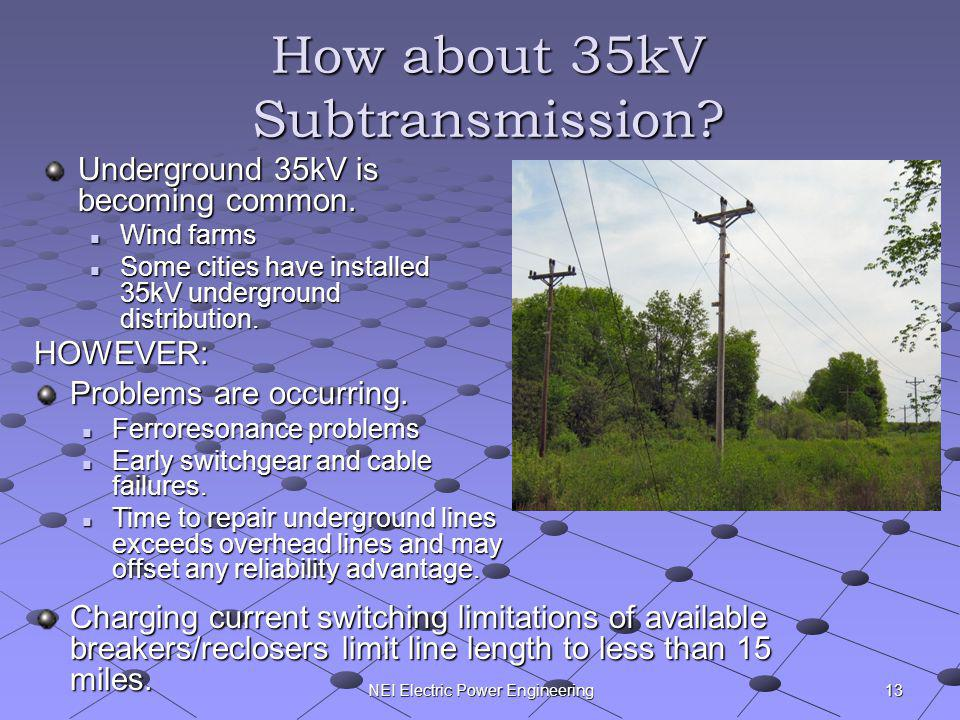How about 35kV Subtransmission