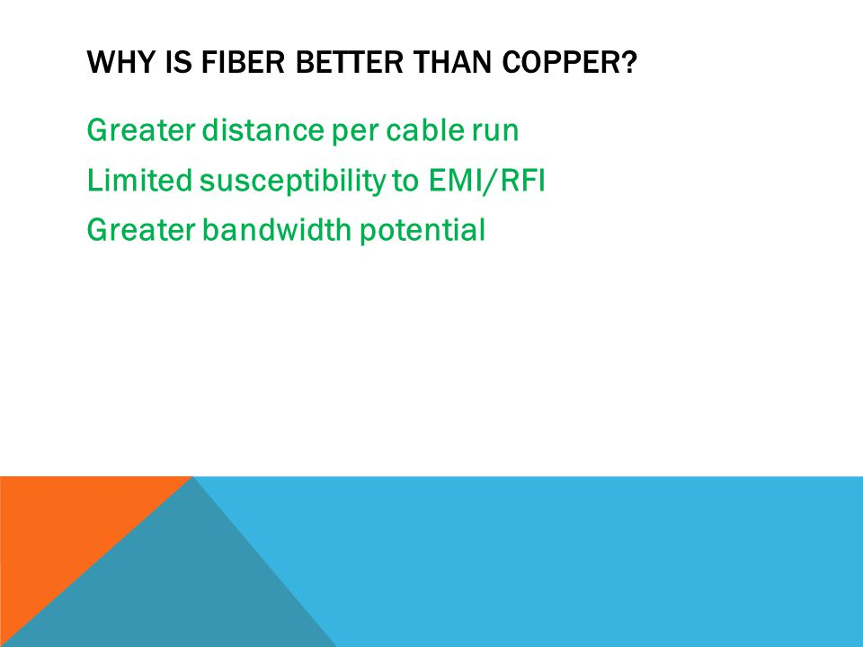 Why is fiber better than copper