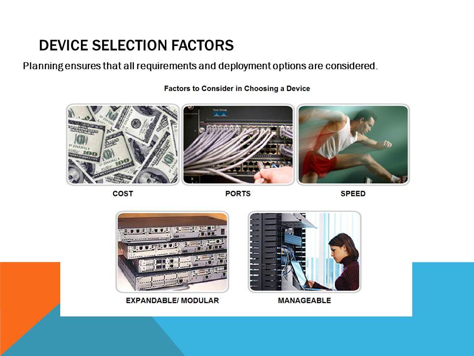 Device Selection Factors