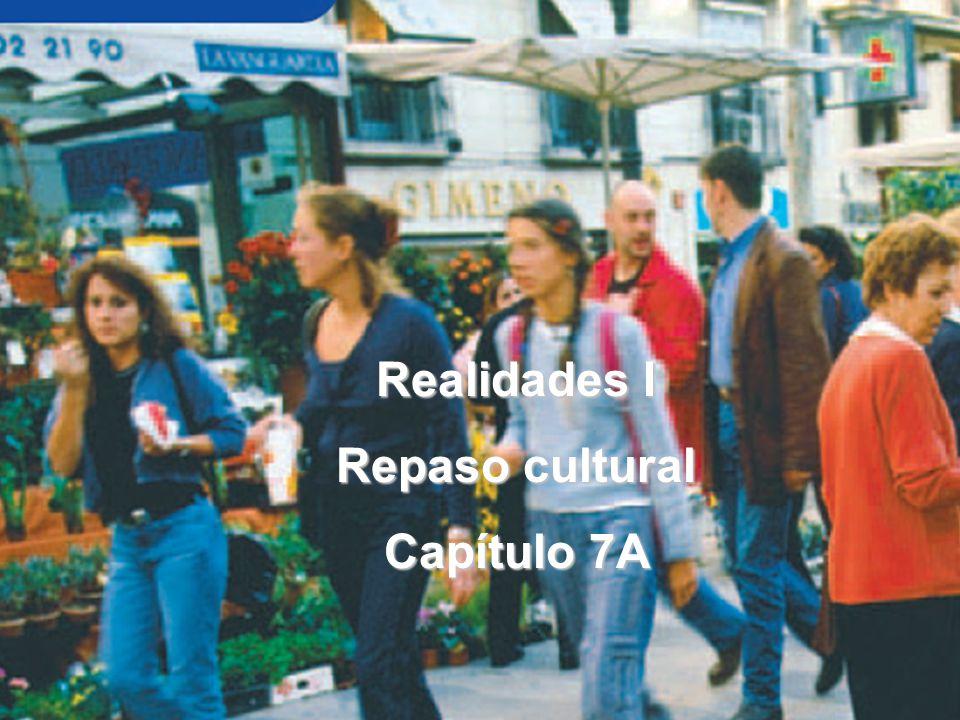 Realidades I Repaso cultural Capítulo 7A