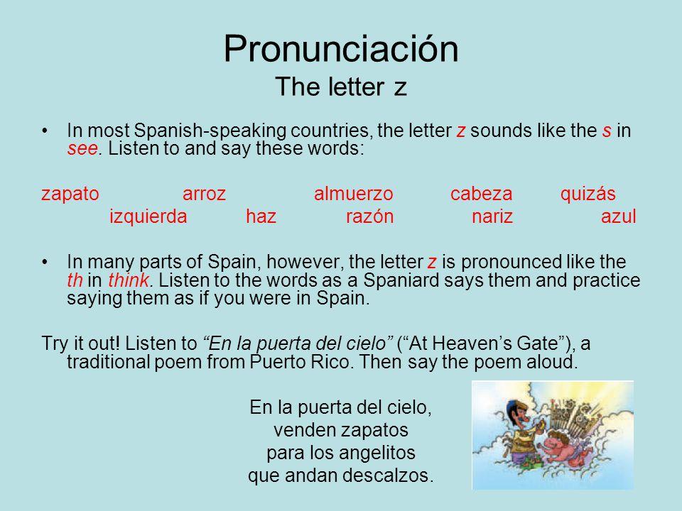 Pronunciación The letter z