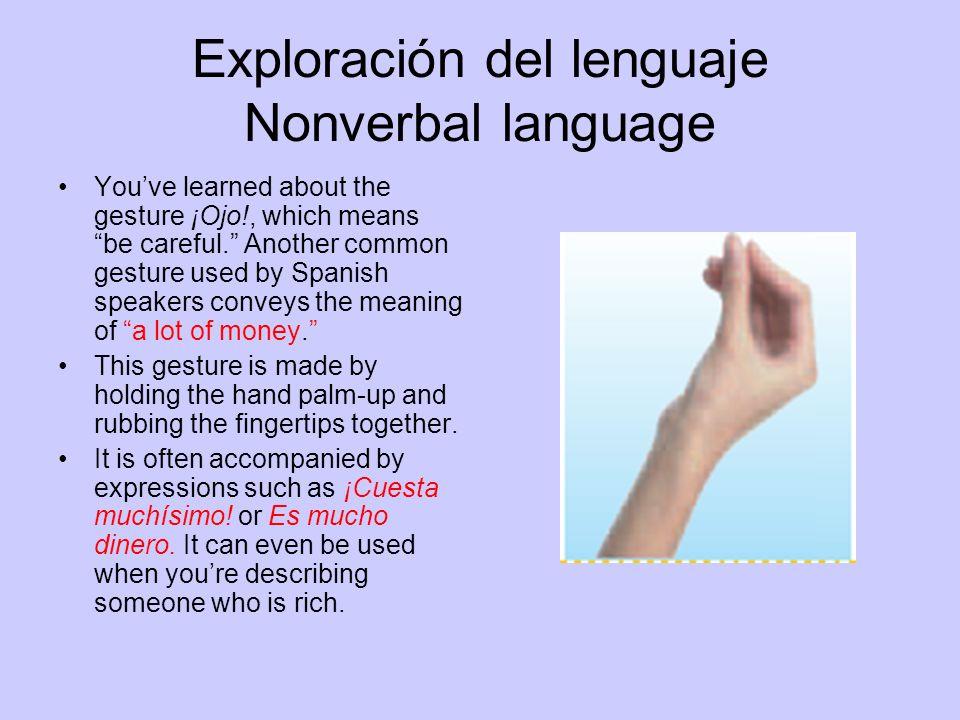 Exploración del lenguaje Nonverbal language