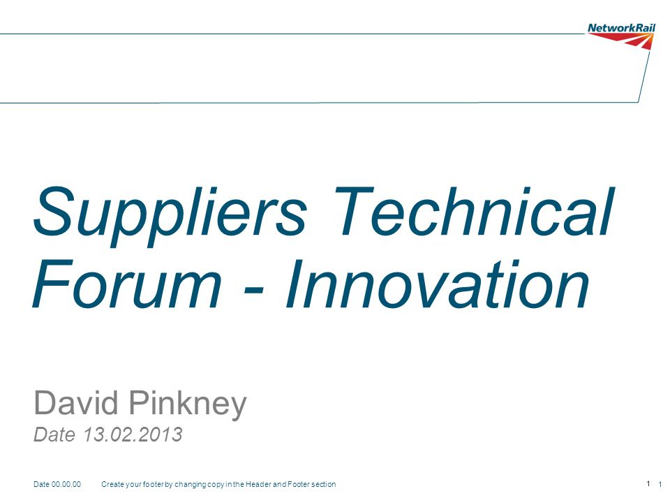 Suppliers Technical Forum - Innovation