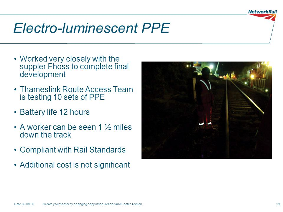 Electro-luminescent PPE