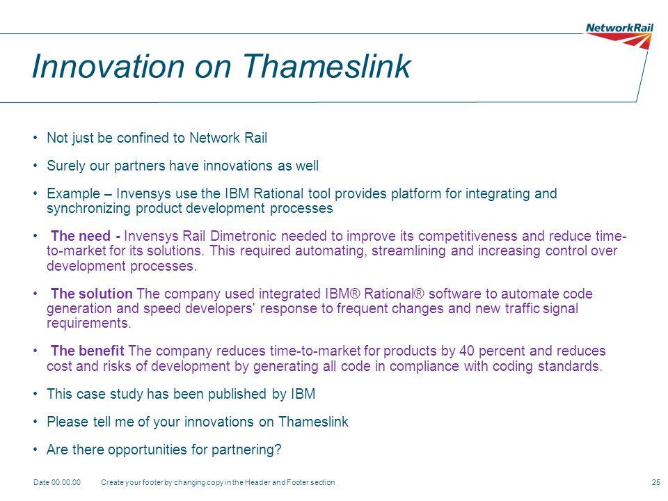 Innovation on Thameslink