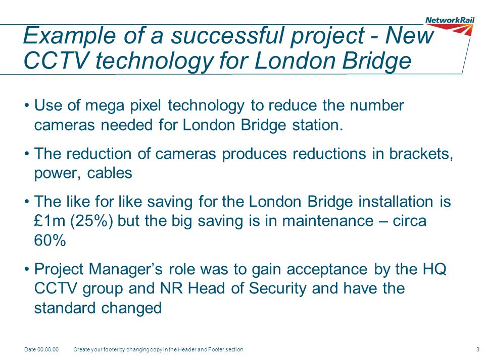 Example of a successful project - New CCTV technology for London Bridge