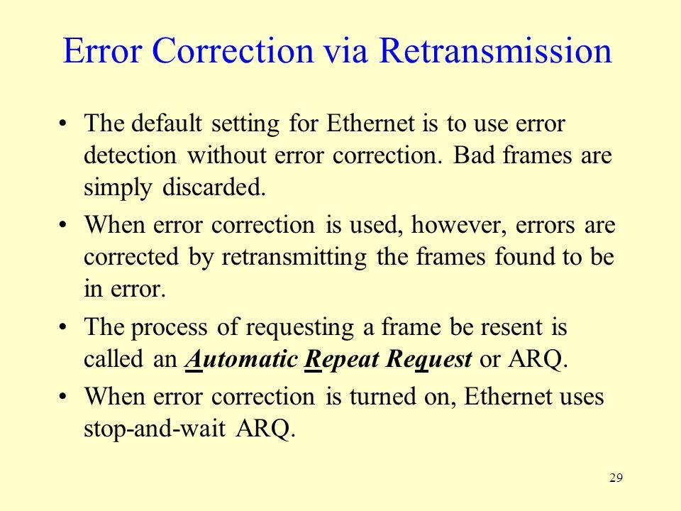 Error Correction via Retransmission