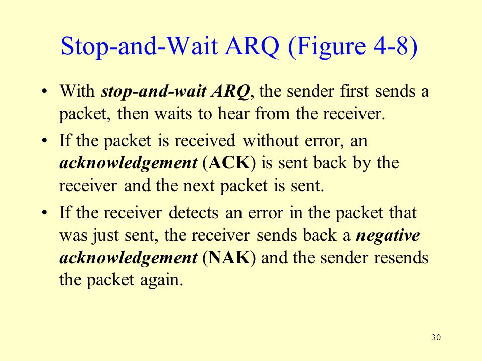 Stop-and-Wait ARQ (Figure 4-8)