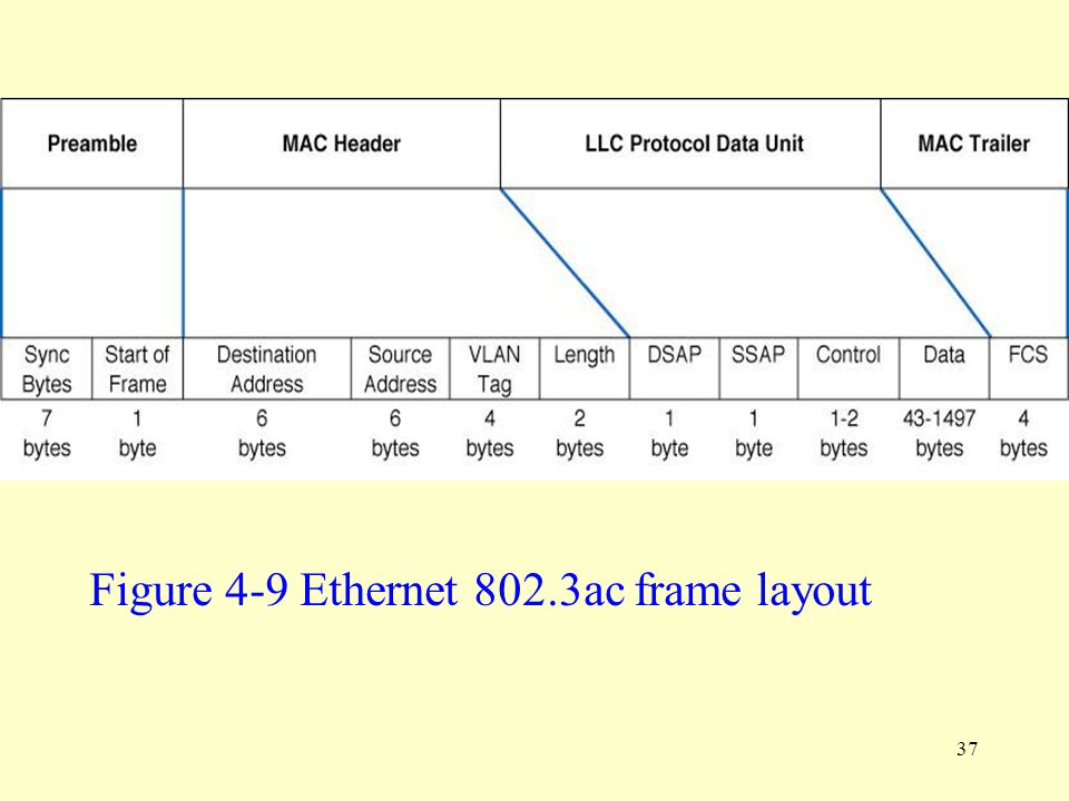 Figure 4-9 Ethernet 802.3ac frame layout