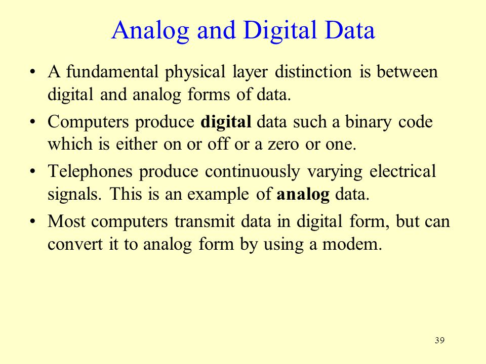 Analog and Digital Data