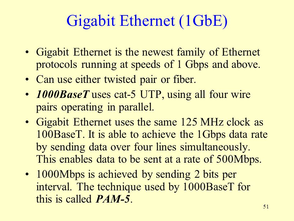 Gigabit Ethernet (1GbE)