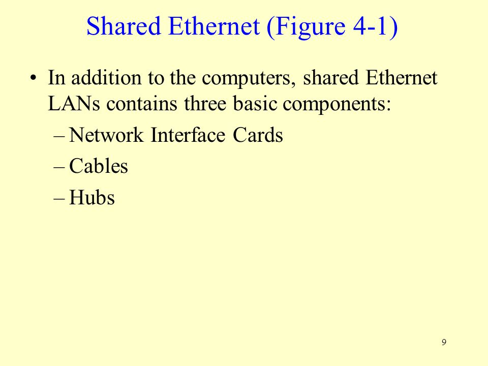 Shared Ethernet (Figure 4-1)