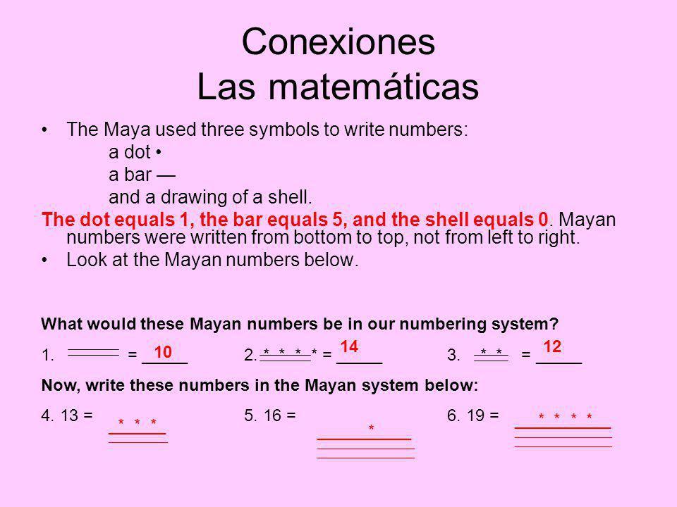 Conexiones Las matemáticas