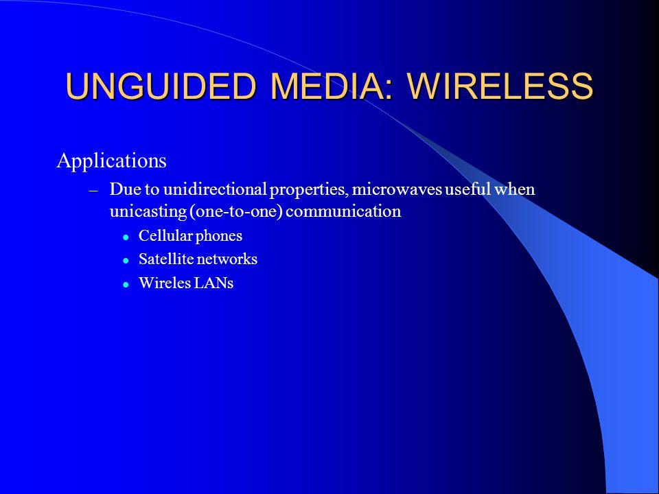 UNGUIDED MEDIA: WIRELESS