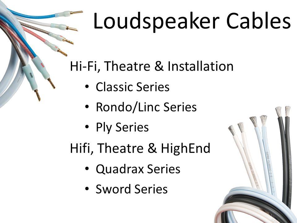 Loudspeaker Cables Hi-Fi, Theatre & Installation